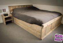 Kastenwand en bureau van steigerhout muijs bouw